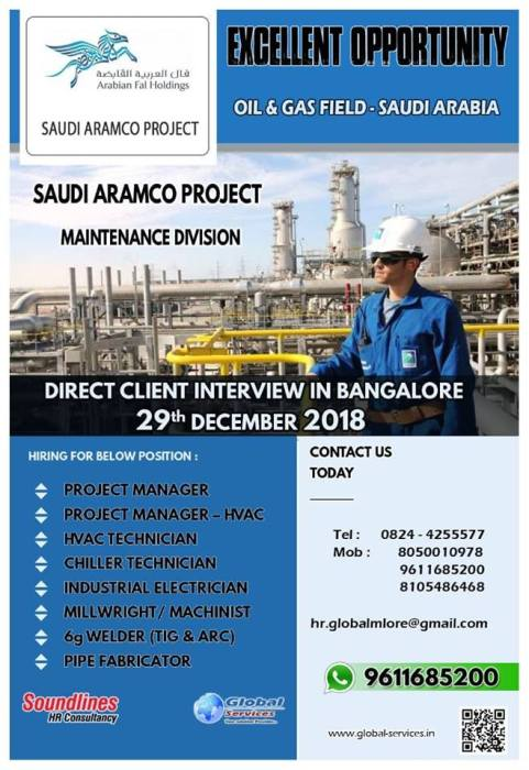 Openings in KSA in Oil and gas | SUVIDHAJOBS - Global Engineering